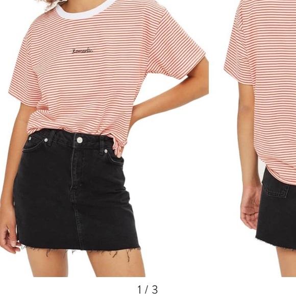 6d045543df Topshop Skirts   Moto Black Denim Skirt   Poshmark